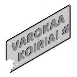 HJV Varokaa Koiria Hopea Musta