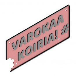 HJV Varokaa Koiria Punainen Musta