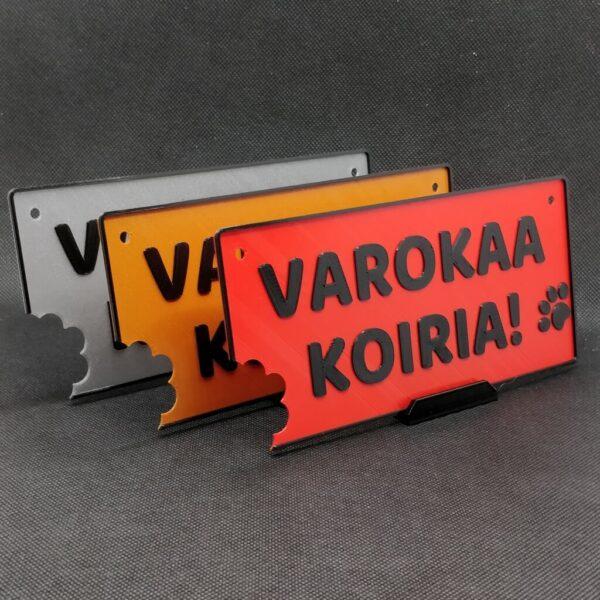 HJV Varokaa Koiria Kylttit
