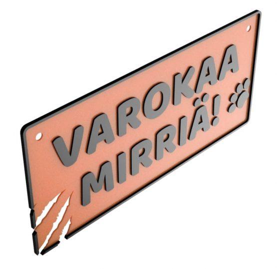 HJV Varokaa Mirriä Kyltti 2H Oranssi Musta